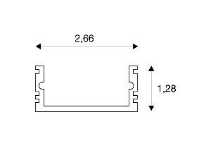 BIG WHITE GLENOS Linear-opbouw-profiel 2713-100 1m mat wit (214321) Profielen van SLV