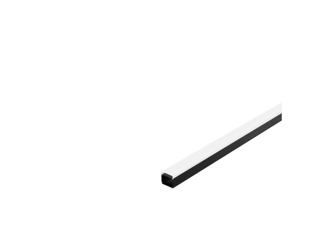 SLV GLENOS Industrial profiel Flat mat zwart 2m