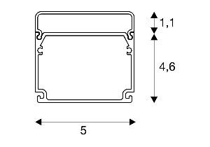 BIG WHITE GLENOS Industrial profiel Flat mat zwart 2m (214420) Profielen van SLV