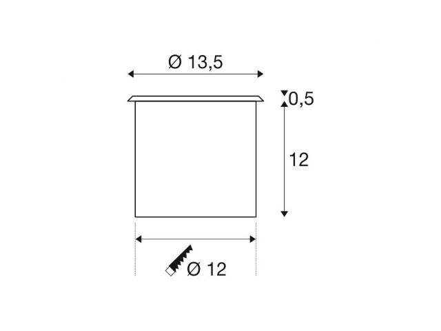 SLV ADJUST 135 square roestvrij staal 1xGU10