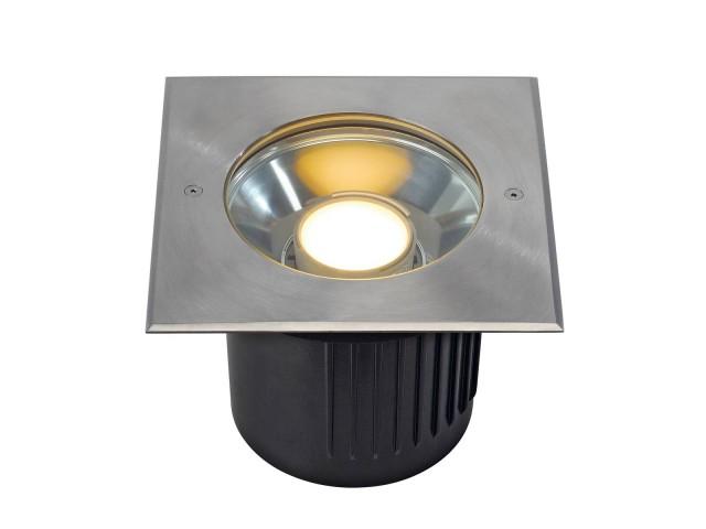SLV DASAR MODULE LED vierkant edelstaal 1xPHJ65-d