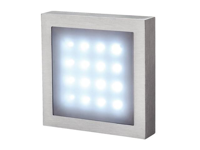 SLV AITES 16 LED alu geborsteld 1,5W wit IP23