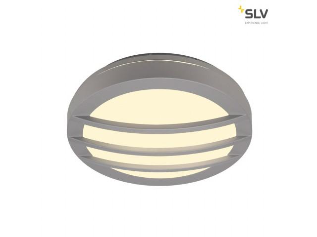 SLV DRAGAN GRID wandlamp, rond zilvergrijs, G24, 2x26W