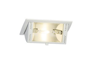 BIG WHITE HQI-TS DL 70 Downlight, vierkant, wit, Rx7s, 70W (150921 | 307073) Downlights van SLV
