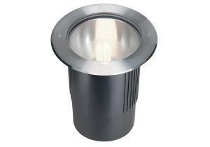 BIG WHITE DASAR 260 UNI round edelstaal 1xE27 (229210 | 309471) Vloerlampen van SLV