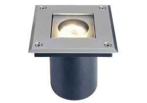 BIG WHITE ADJUST QUADRO GU10 edelstaal 1xGU10 (228218 | 309716) Vloerlampen van SLV