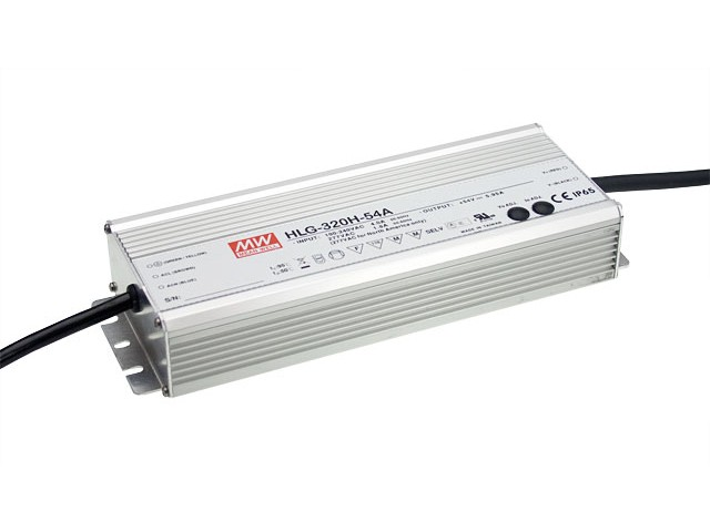 Mean Well Voeding 320VA 24V 13.3A HLG-320H-24A