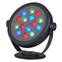 BIG WHITE 310834: KETO RGB LED ROUND zwart 1xLED RGB, BIG WHITE Washlights (SLV 229453)