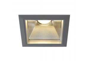 BIG WHITE LED DOWNLIGHT PRO ST, vierkant, zilvergrijs, voor Fortimo LED Twistable module, max. 20W (162454 | 313260) Downlights van SLV
