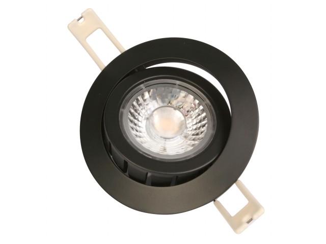 DecaLED® Downlight HaloRep-R Black 6-9W 2700K IP54