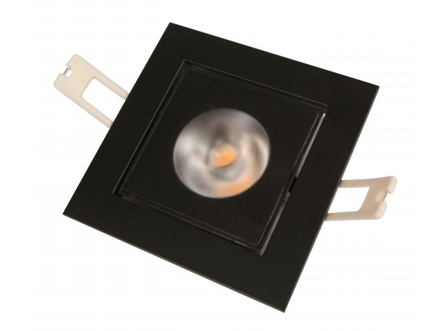 DecaLED® Downlight HaloRep-SQ Black 6-9W 2700K IP54