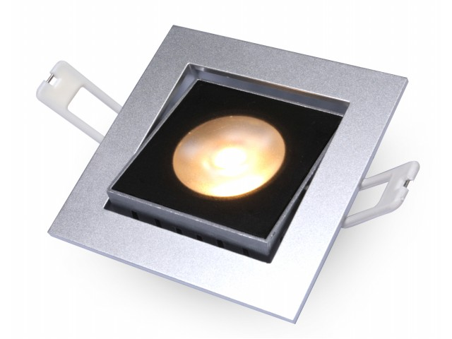 DecaLED® Downlight HaloRep-SQ Silver 6-9W 2700K IP54