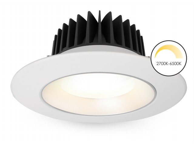 DecaLED® Downlight Wave-2040XLpro White 20-40W 2700K-6500K
