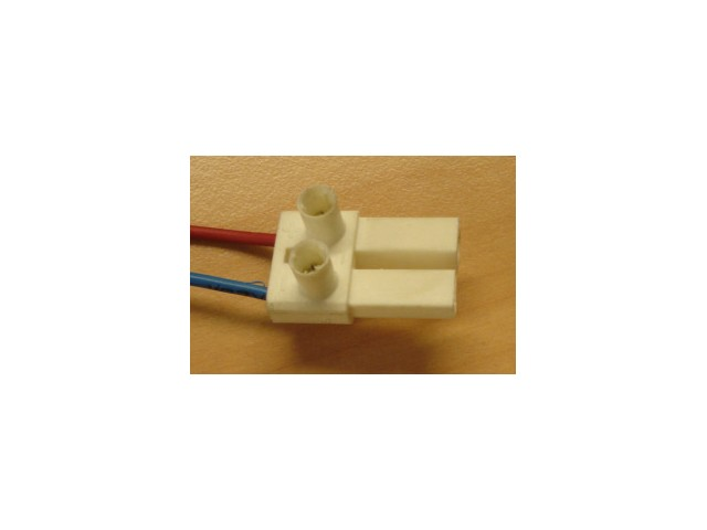DecaLED® Laagvolt steekverbinding 2-pins, stekker wit (male)