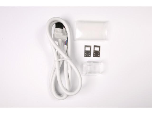 DecaLED® Pro Flex Neon Aansluitset Rechts 1mtr White Shades, incl. eindkapje