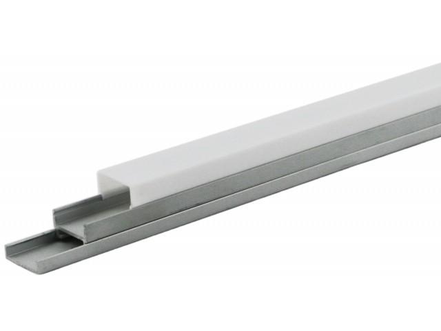 DecaLED® Alu Profiel met Cover 2000 x 19,7 x 20mm