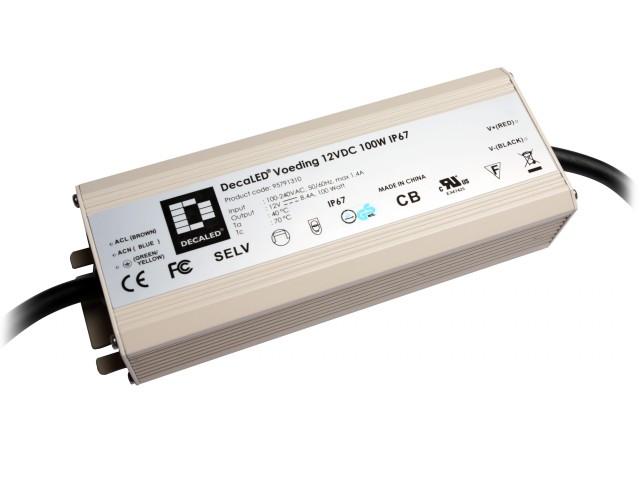 DecaLED® Voeding 12VDC 100W IP67