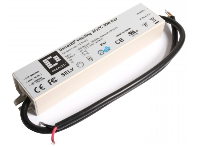DecaLED® Voeding 24VDC 30W IP67