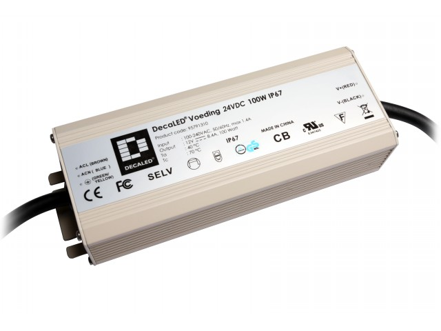 DecaLED® Voeding 24VDC 100W IP67