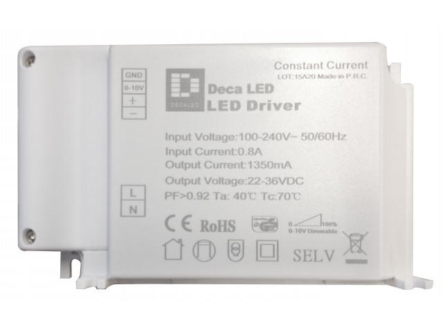 DecaLED® Driver BL40-50W 1000mA 0-10V