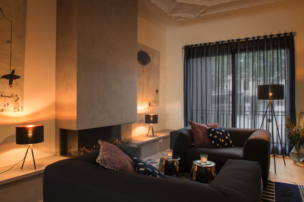 FENDA staande lamp driepoot zwart 1xE27