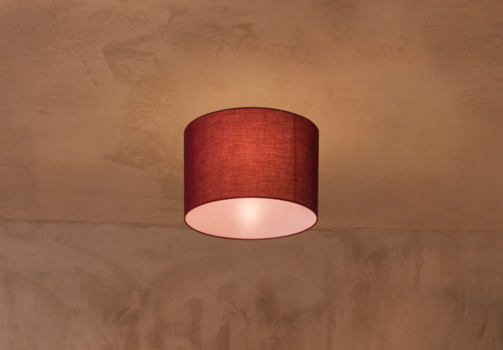 FENDA E27 ceiling light, black, without shade